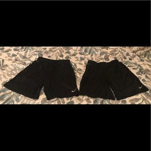 Pair of Same Nike Youth Boys Running Shorts Size L